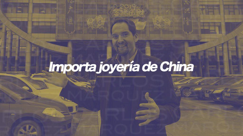 Importa joyería de China